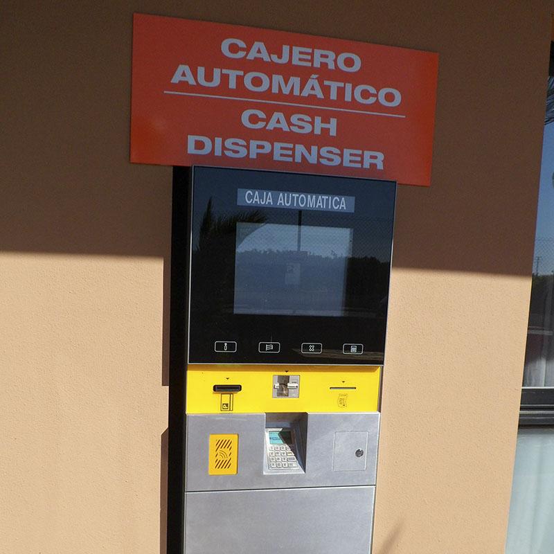 Cajero automático parking de camiones en Castellón