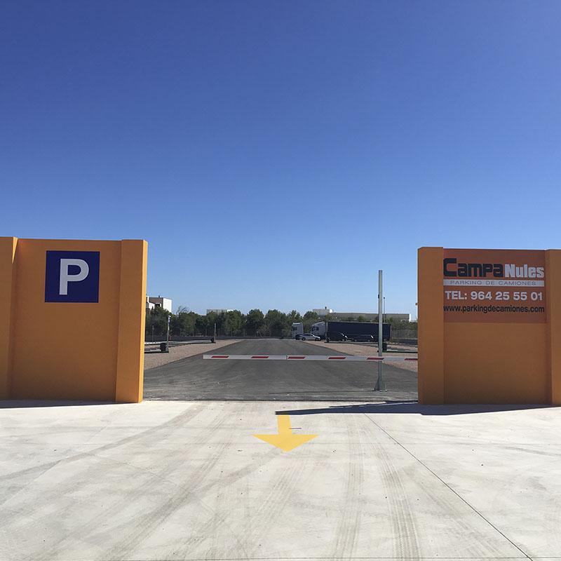 Salida parking camiones Castellón