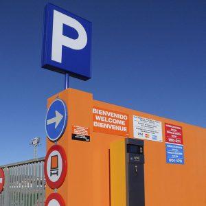 Entrada parking de camiones Castellón