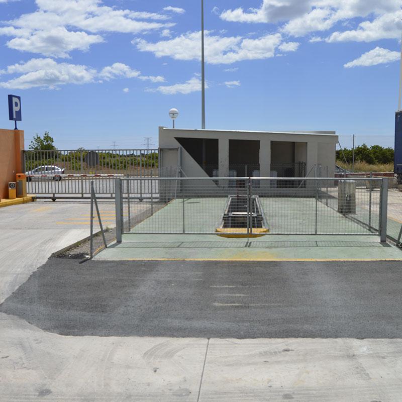 Foso taller para clientes parking de camiones Castellón