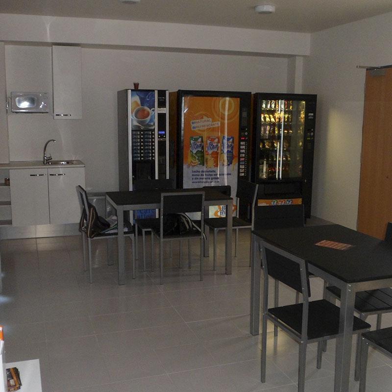 Sala de descanso Vending parking de camiones en Castellón